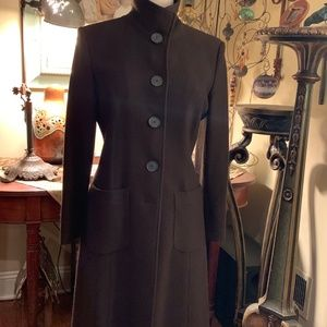 "Chic Dark Chocolate ""Teddy"" Peacoat"